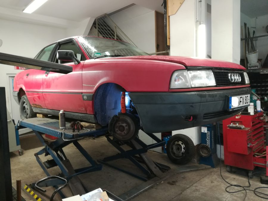Winterkarre Audi 80